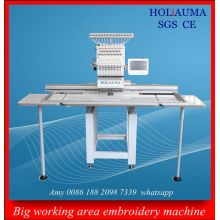 Máquina de bordado industrial Tubular sola cabeza de gran tamaño máquina plana del bordado