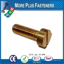 Made in Taiwan Metric Coarse Slotted Cheese Head Machine Screw Stainless Steel Brass or Carbon Steel
