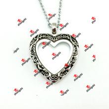 30mm aleación metal esmalte corazón lockets collar de moda regalos (ehl50925)