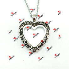30mm en alliage de métal en émail Heart Lockets Collier Fashion Gifts (EHL50925)