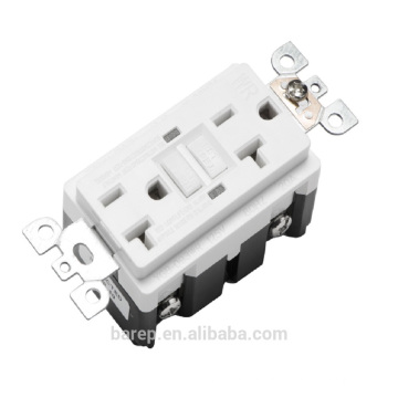 PC Material customized wall sockets gfci protected outlet
