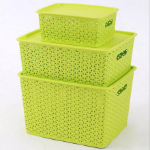 Fashionable Weave Design Plastic Storage Box (SLSN067)