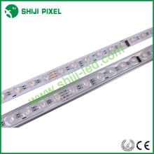 48LEDs / m carcasa de aluminio llevó la barra ligera 12v barra ligera llevada rígida barata