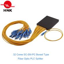 1: 32 SC/PC Singlemode Boxed Type Fiber Optic PLC Splitter
