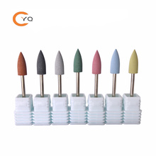 Silicone Nail Drill Bit Electric Manicure Polisher Grinder Accessories Nail Tool