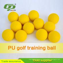 El golf amarillo de la venta de la fábrica de China vende agallas las pelotas de golf suaves para la práctica del golf