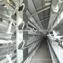 Sistema de gaiola de galinha de aves de capoeira com sistema de alimentação automática