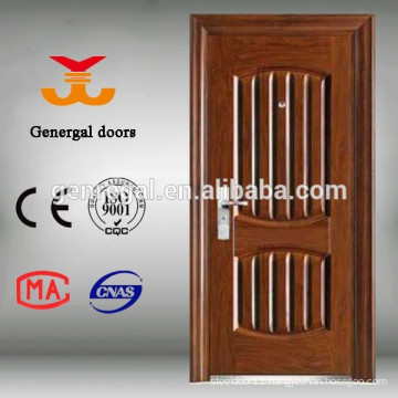 CE Thermal isolation PU foam infilling safty entry main steel door