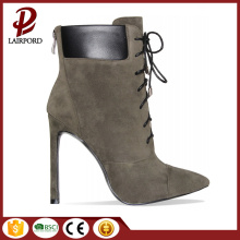 ladies faux suede strappy short winter boots