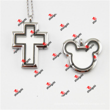 Fashion Alloy Metal Cross/Mouse Head Magnets Lockets Charms (CML50925)