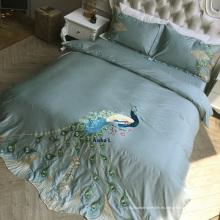 Juego de cama bordado a mano