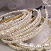 Bandeau cheveux tali rambut Pearl Slim Headband Simple Hair Accessories Korean Wedding Bride Hairband Sweet for Women Girl Gift Dropshipping Wholesale