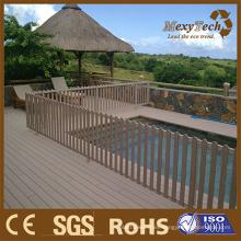 Plantas frontales de jardín de madera de plástico Diseño de tablas