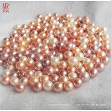 Perles en vrac colorées de 8 à 9 mm de couleur mixte