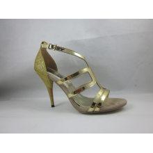 Sandálias de Salto Alto Fshion para Mulheres (HCY03-073)