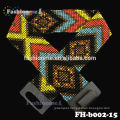 free shipping resilient handmade beaded belt with wood buckle