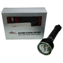 La lampe de poche à lampe multifonction a conduit la lampe de poche à la sécurité de la police avec une conception de marteau d'urgence