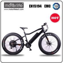 Motorlife fat bike quadro alumínio suspensão total / cruzadores spacial / best seller em 2017 / bicicleta de neve elétrica 27 velocidade