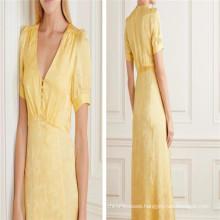 Breathable 100% Viscose Rayon Jacquard Women Dress Fabric