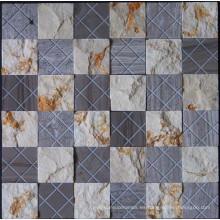 Mosaico de piedra de mármol de la pared de la superficie natural (HSM190)