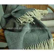 Fischgräten Wolle Decke