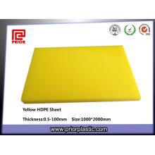 Feuille 100% en plastique jaune de HDPE de Vierge