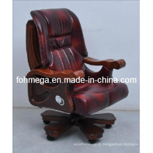 Couro Genuine Chair Movable da conferência para o chefe, presidente, CEO Foh-1311