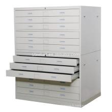 Dessin / carte armoire de stockage multi tiroir armoire métallique