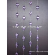 Shower curtain rod crystal