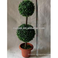 Künstlicher Grasballbaum / künstlicher gefälschter synthetischer Buchsbaumdouble-Topiaryballbaum
