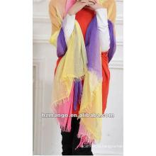2016 Модная женская мода 100% Модальный двухцветный шарф Infinity