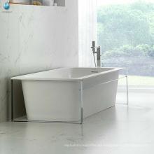 Tubos de bañera baratos rectangular 1 persona bañera de pie libre para adultos / bañera de acrílico limpio