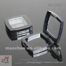 MC5029 Étui en poudre compact cosmétique compact carré avec fenêtre claire