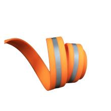 Orange PVC-Kunststoff beschichtet Gurtband mit Reflexstreifen