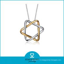 2014 Оптовые дешевые позолота Серебряная звезда подвеска моды ювелирные изделия (SH-N0177)