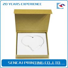 Caja de papel de embalaje en forma de libro de collar SenCai