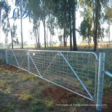 Padrão australiano 12 'n cinta malha fazenda ficar portão com dobradiças