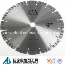 "9"" corte diamante lâmina de serra para concreto, corte a seco"