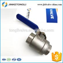 JKTL2B039 1000wog cf8m Robinet à boisseau sphérique en acier inoxydable de gaz rb pn40 de 2 pièces