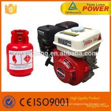 Hot venda GX200 6.5 HP combustível GLP gasolina duplo motor
