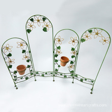 Fence Design Set Of Metal Flower Stand