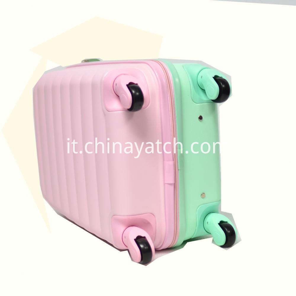 ABS Travel Suitcase With Macarons Contrast Color
