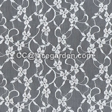 Jacquard Lace in White Color
