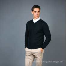 Suéter de la mezcla de la cachemira de la manera de los hombres 17brpv131