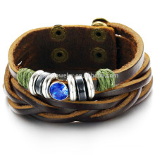 2015 novas tendências de lazer pulseira de couro personalizado PH778