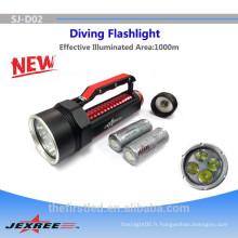 Underwater 100 mètres 4xCREE XML2 Aluminium Alloy police 50w lampe de poche la plus brillante lampe de poche led