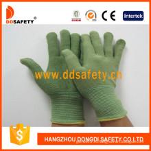 Зеленый Бамбук волокна с латексом перчатки-Dnl315