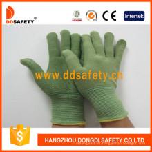 Fibra de bambú verde con guantes de látex Dnl315