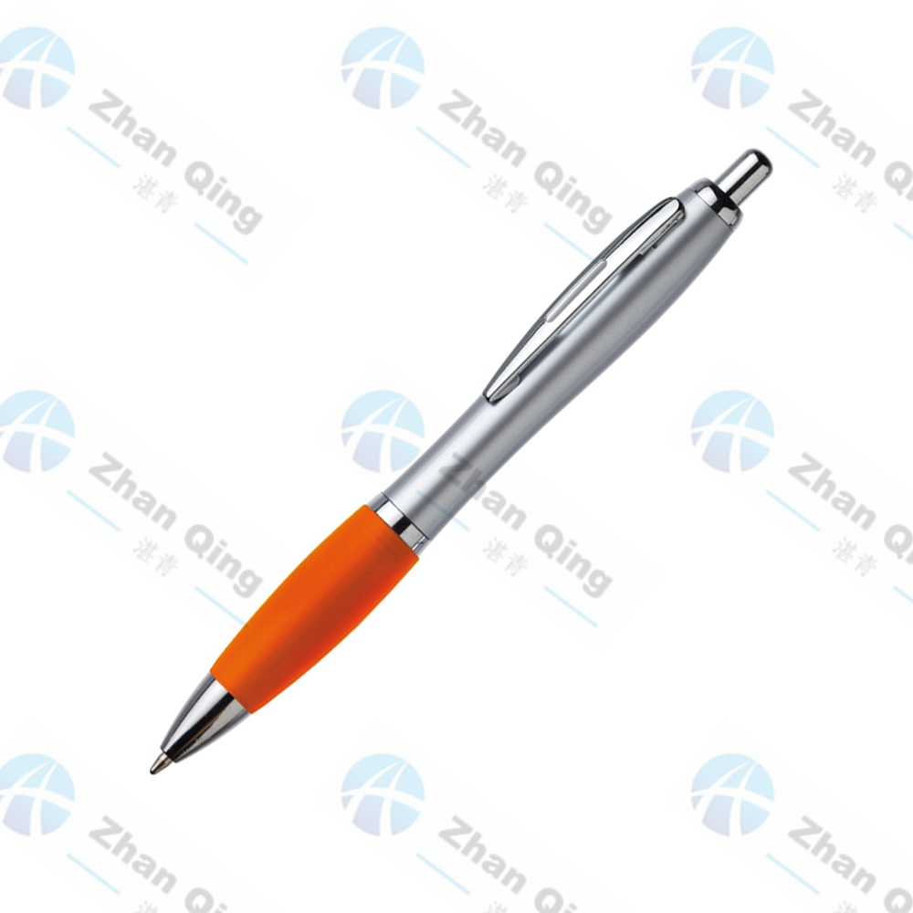 Cheap Plastic Pen with Rubber Grip