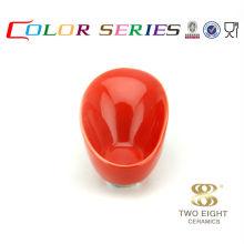 Recipiente de frutas de cerámica de cristal rojo de la cocina seguro de la microonda 5 pulgadas